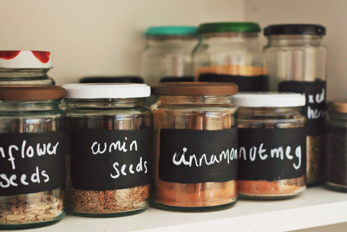 labeling spices