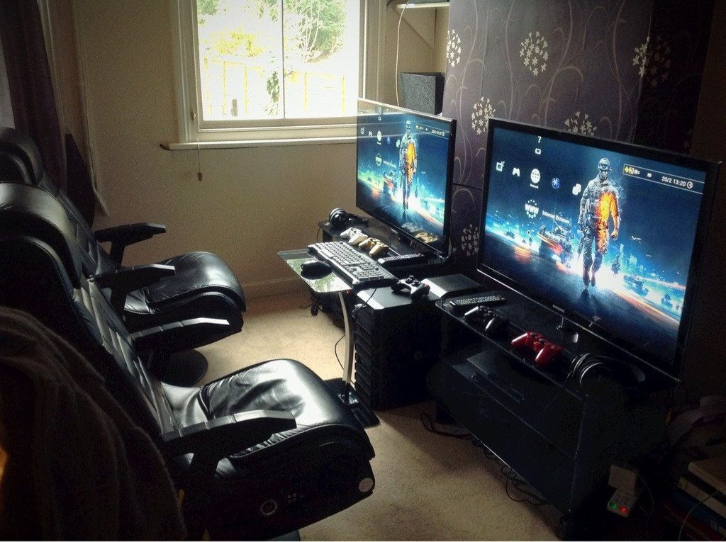 captivating bedroom gaming room setup | Top 28 Video Gaming Setup Room Ideas - TheHomeRoute