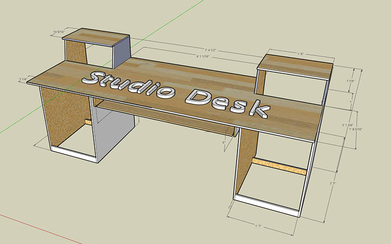 [DVZP_7254]   19 DIY Studio Desk Plans and Ideas - TheHomeRoute   Desk Schematic      TheHomeRoute