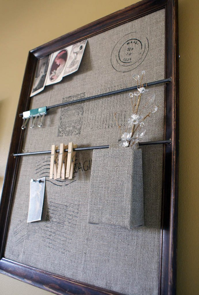 framed wall organizer