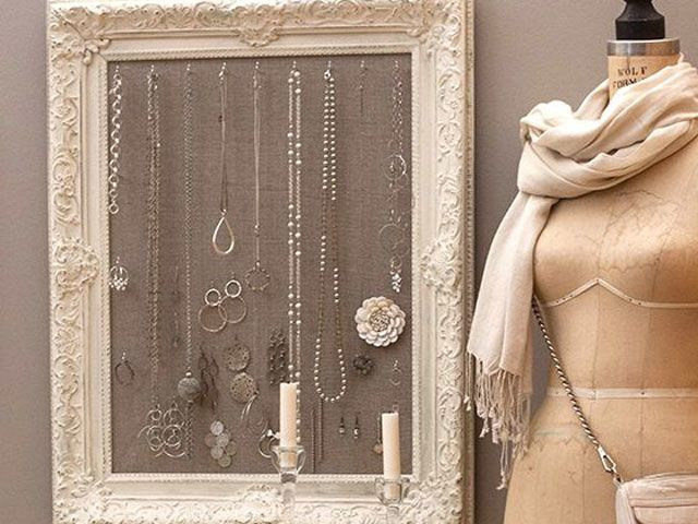 Store Jewelry in Vintage Frames