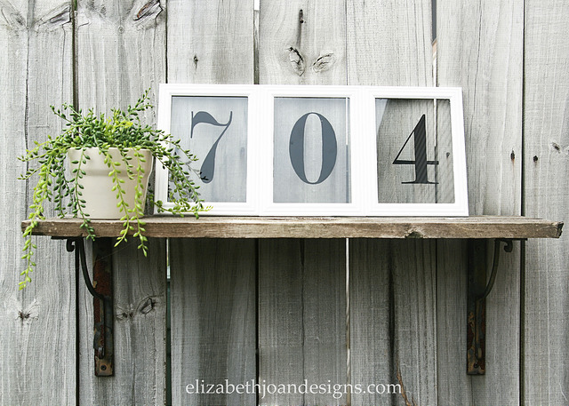 Picture Frame House Numbers