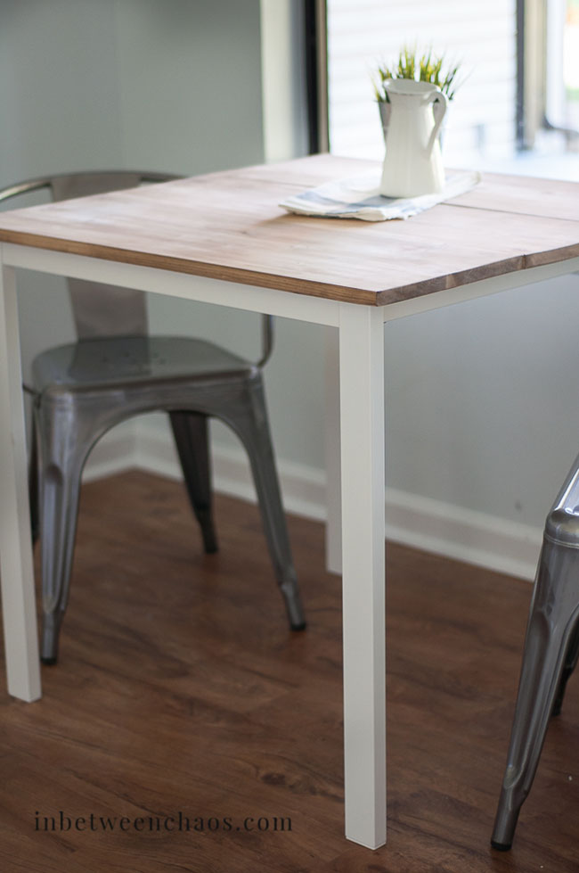 $30 IKEA Farmhouse Table Hack | inbetweenchaos.com